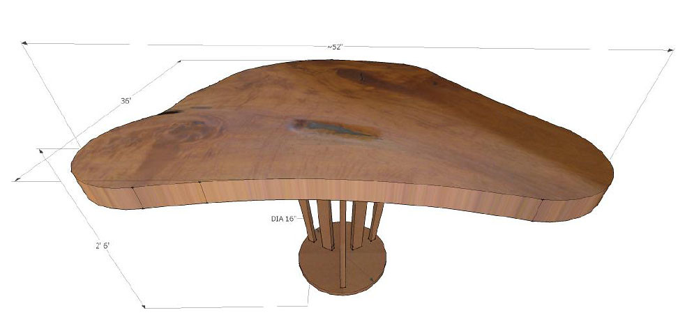 Live-edge Teak Tall Tree Table with Sunshine Oil-Rubbed Bronze Pedestal Base