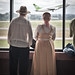 Mennonite couple watching planes, Curitiba airport by *Carmel