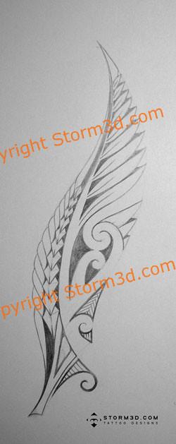 silver-fern-maori-tattoo-designs | Flickr - Photo Sharing!