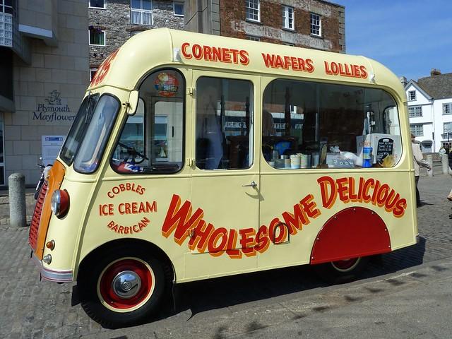 Vintage Ice Cream Van, Plymouth Barbican