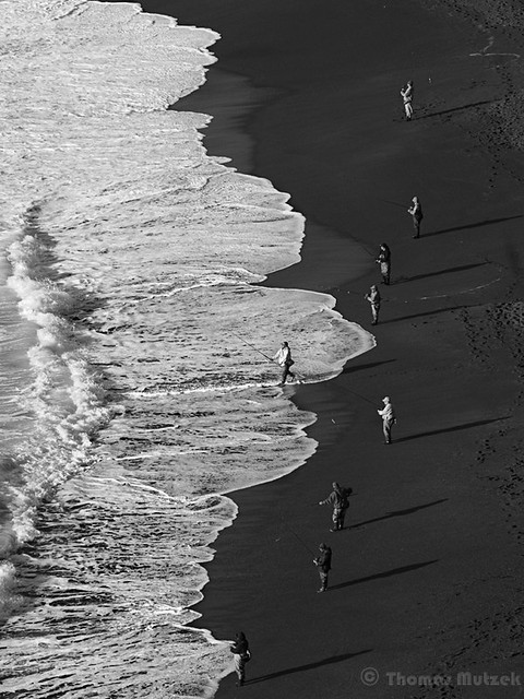 Fishermen on the Beach, Pacifica, California, April 2011