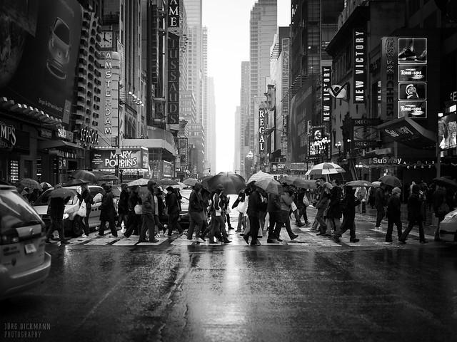 Rain on 42nd St.