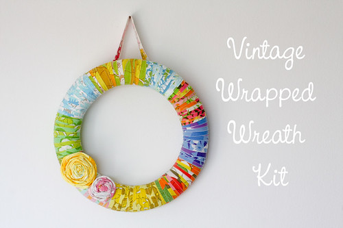 Vintage Sheet Wreath Kits by jenib320