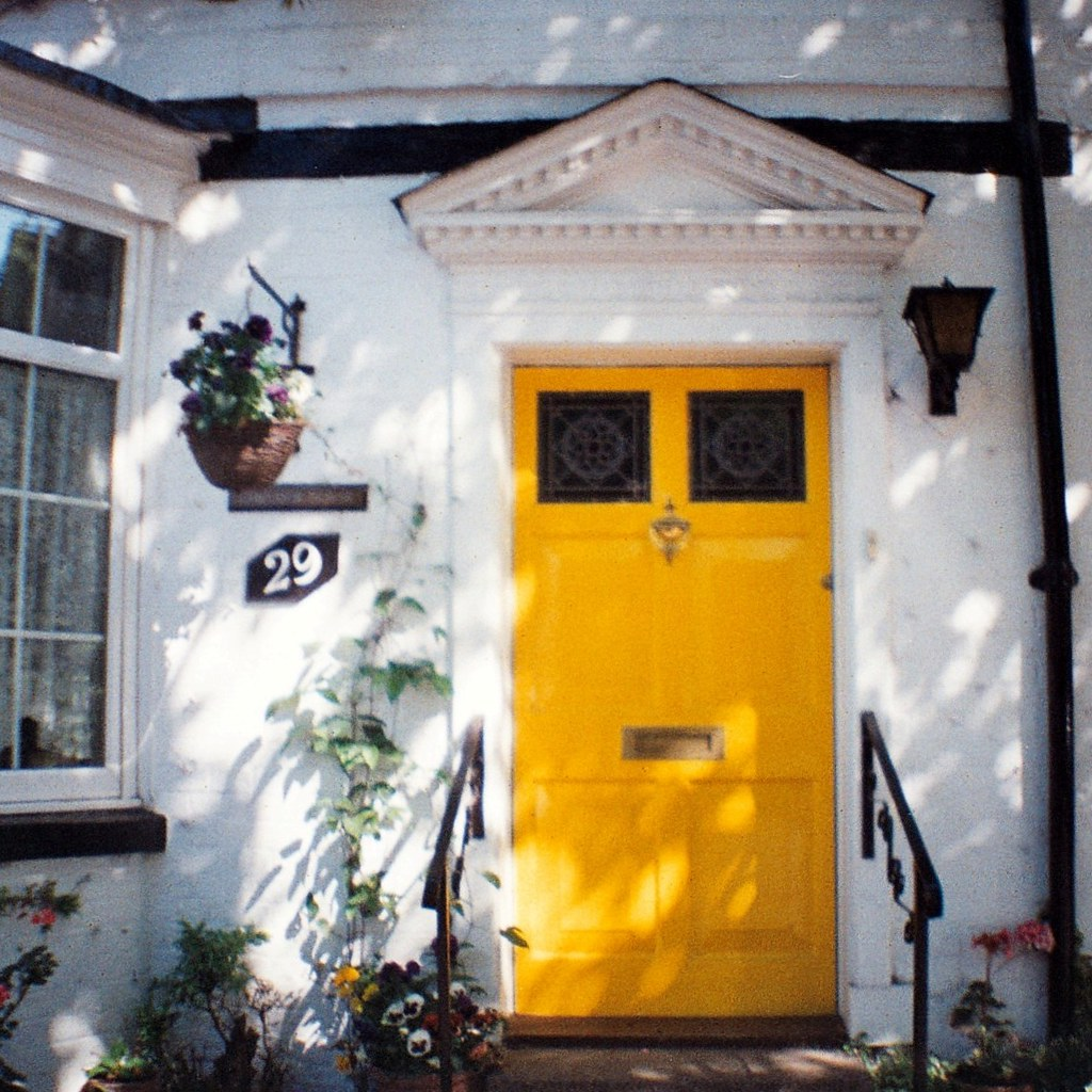 the perfect yellow door
