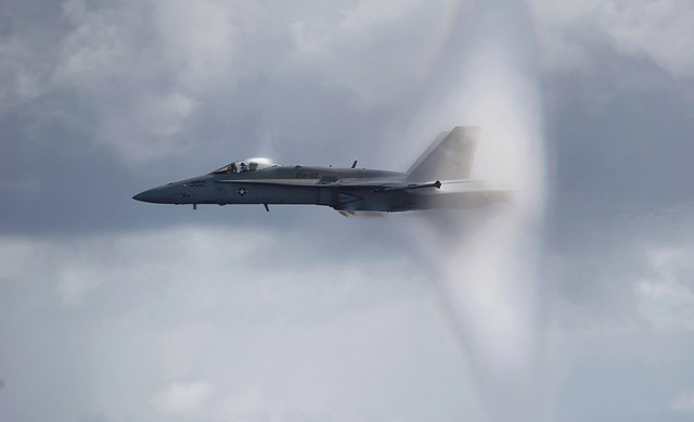 F/A-18C Hornet breaks the sound barrier