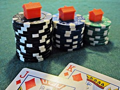 Poker Chips with houses on
