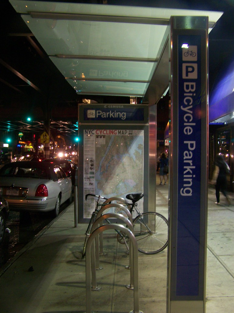 Bicycle parking shelter, Astoria, Queens, NYC | Richard