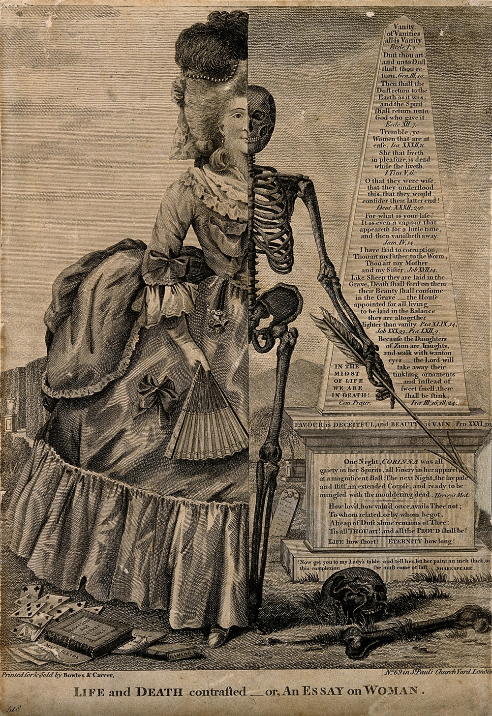 life and death contrasted ca 1770 the public review life and death contrasted