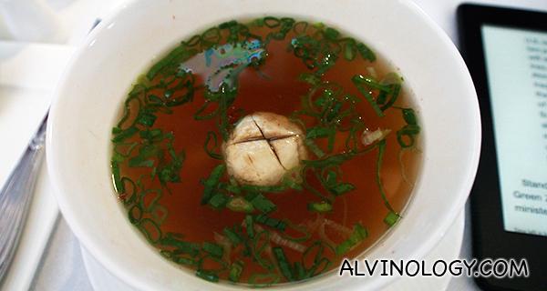 Chef Nobu's seafood soup