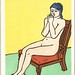 Unichi Hiratsuka, Nude on a Red Chair, 1939 by geldenkirchen