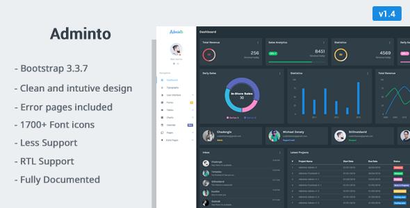 Adminto v1.4 - Responsive Admin Dashboard