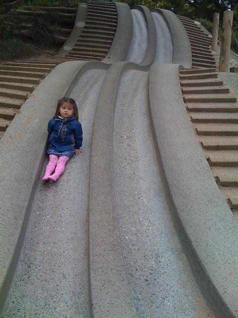 The concrete slide at GG Park
