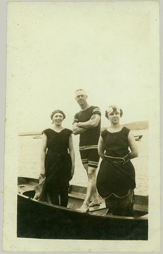 Trio in a boat