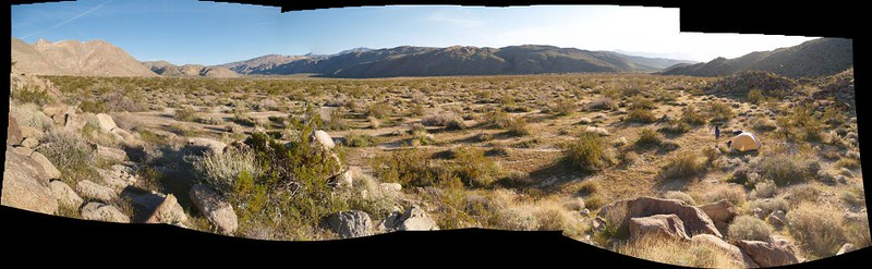 Stitched panorama of Collins Valley from our campsite