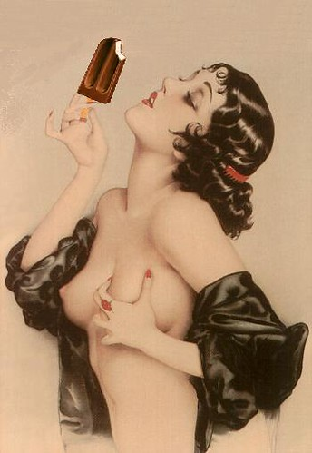 Passion for Ice Cream, after Alberto Vargas