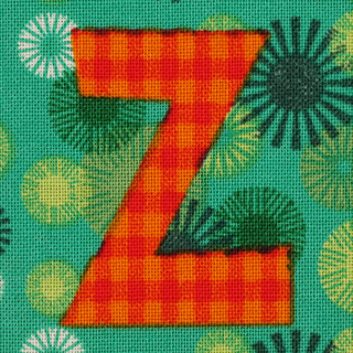 Fabric letter Z