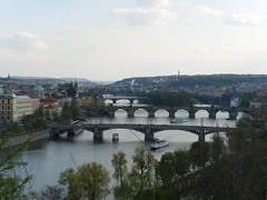 Looking down towards Karlov Most from the Metronome