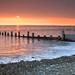 Sunset and Groynes