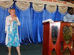 Catherine speaking at GGM Nairobi leaders day organised  by Bishop Patroba