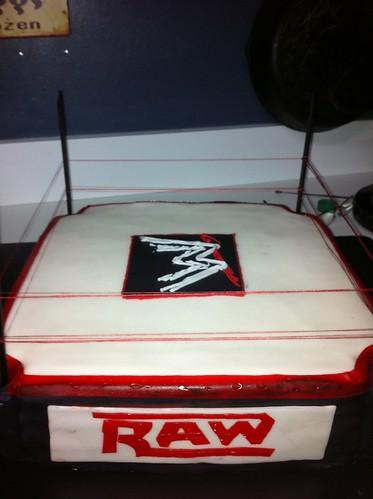 birthday cake wrestling birthdaycake wwf fondant wrestlingcake wwfcake