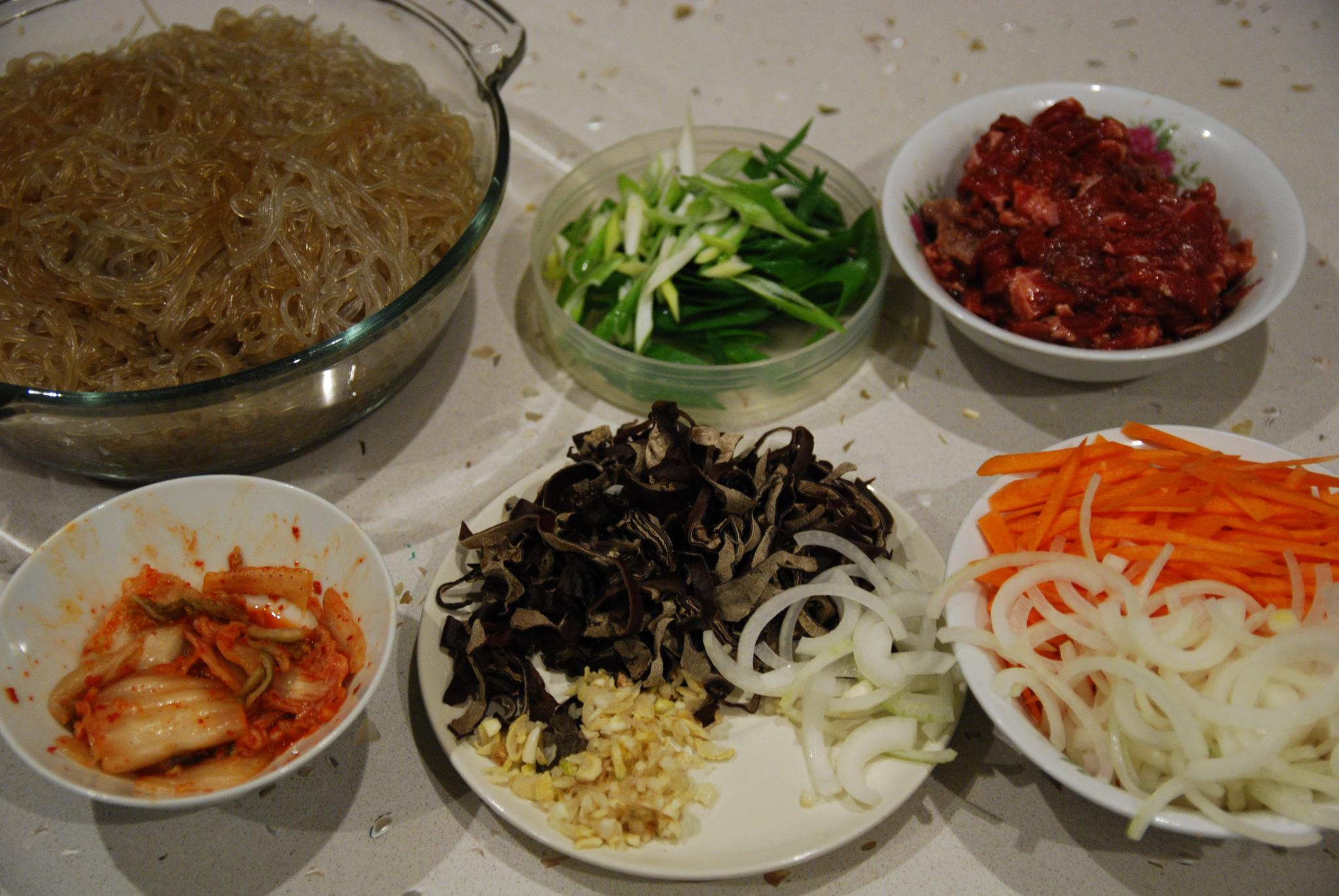 how to make japchae sauce