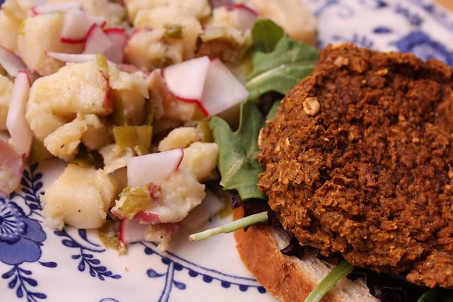 Potato Salad and Black Bean Burgers | Flickr - Photo Sharing!
