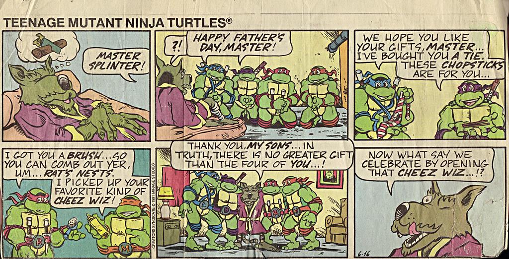 Teenage Mutant Ninja Turtles { newspaper strip } ..CHEEZ WIZ- ..art by Lawson :: 06161991 by tOkKa