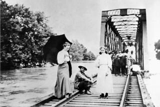 Rock Island Railroad Bridge during Grand River flooding (MSA)