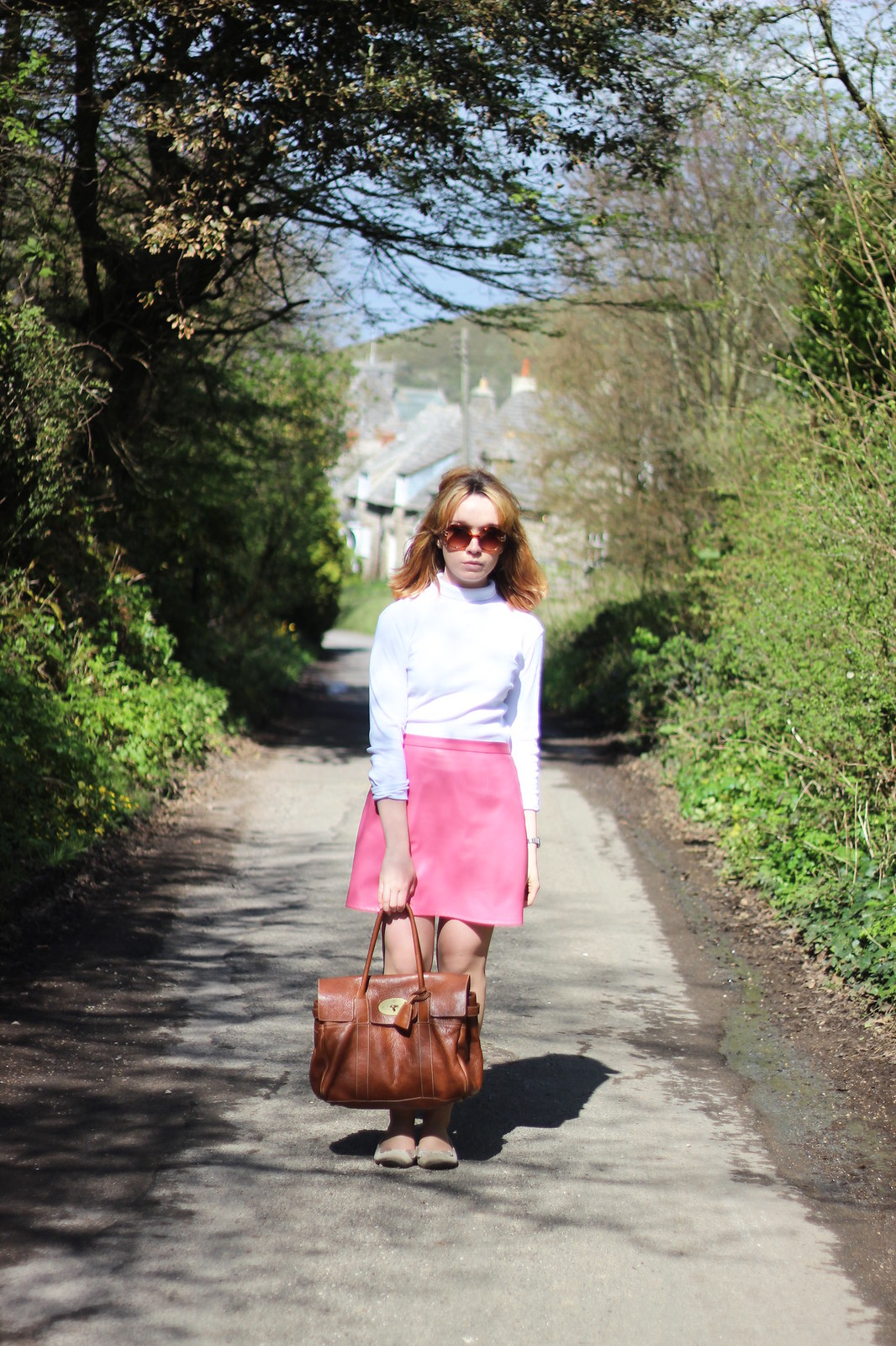2whitepoloneck, retro, 60s, outfit, style, blonde, mod, pink, high street, mulberry, designer, spring, fashion, blogger