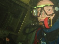 Greg in one of the wrecks Image