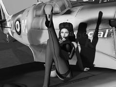 1940s`s Tinny sat on Spitfire
