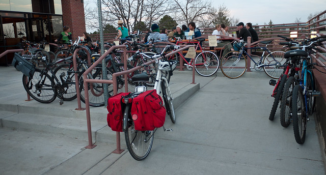 Southern Sun Bike Parking by Zane Selvans on flickr