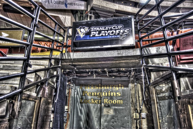 Pittsburgh Penguins' Locker Room at the Civic Arena HDR