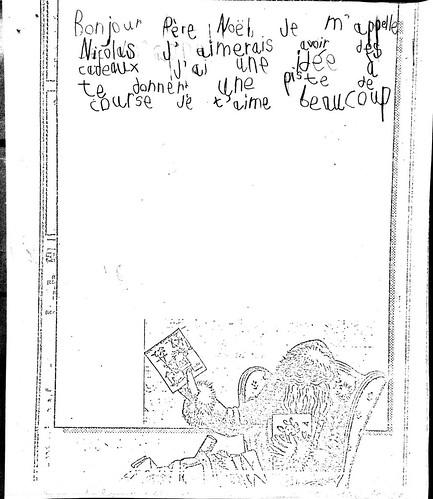 une vieille lettre au p re no l. Black Bedroom Furniture Sets. Home Design Ideas