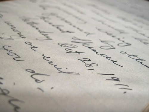 Handwriting in Old Diary