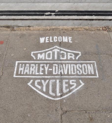Harley Davidson chalk logo