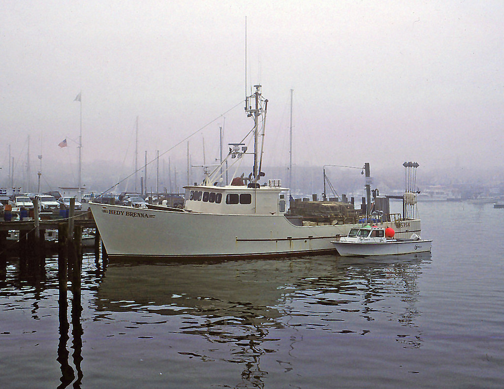 FV Hedy Brenna in the fog, Newport, RI