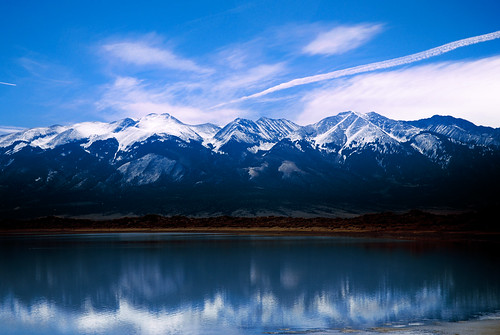 Lake San Louis and The Sangre De Cristo Mountain Range