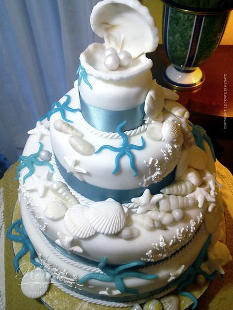 Wedding Cake Marine Theme