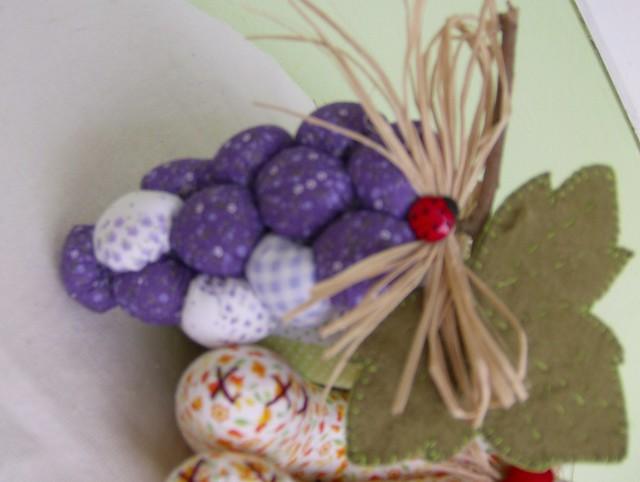 Armario Modulado Casal ~ Frutas, frutas de tecido, tecido, cozinha, artesanato, pachtwork, decoraç u00e3o,uva de tecido