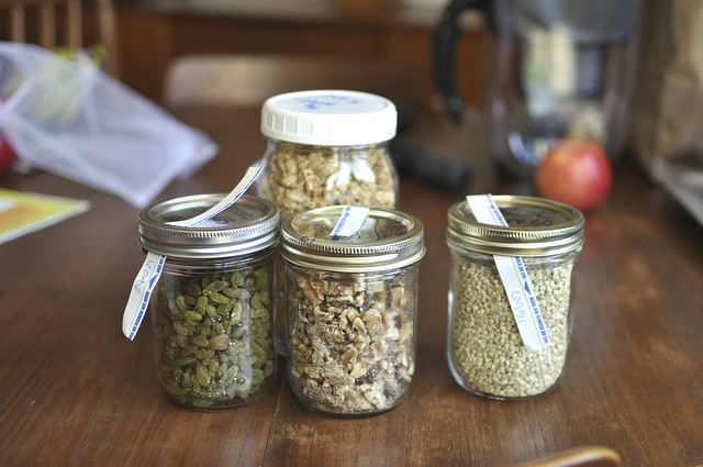 jars filled with bulk goods