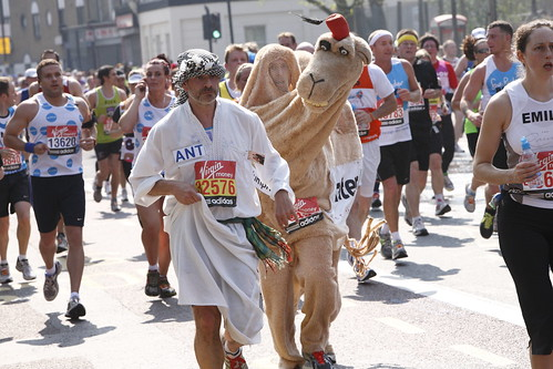 Humphrey and Mustafa, Running in the London Marathon