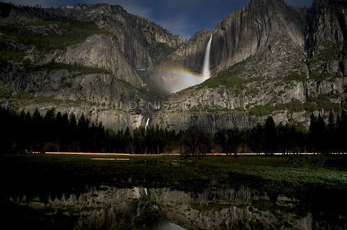 Upper Yosemite Falls with Moonbow