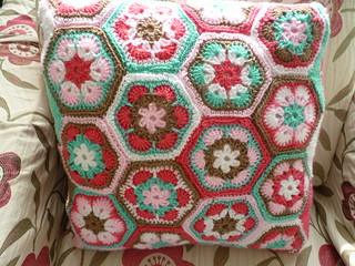 African flowers cushion cover