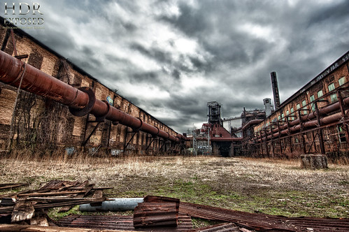 photoshop nikon decay tripod homestead nikkor hdr highdynamicrange urbanphotography urbex blastfurnace cs4 swissvale steelmill carriefurnace pittsburghsteelers tonemapped colorefex cs5 d700 hdrefex