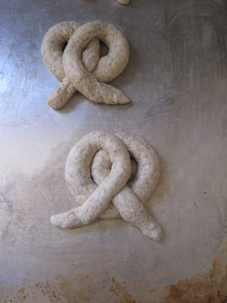 Pretzels, before their bath