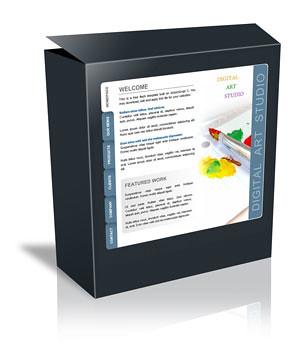 web templates 786 free flash template digital art studio. Black Bedroom Furniture Sets. Home Design Ideas