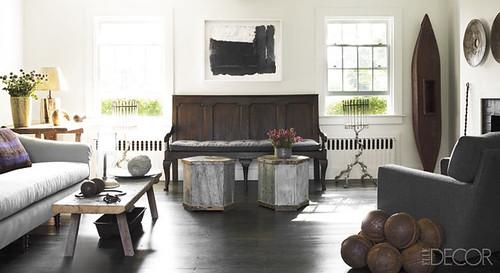 James Huniford {white and gray rustic modern living room}