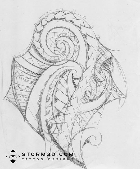 Tattoo Ideas Quick: Quick-sketch-tattoo-design-maori-samoan-style