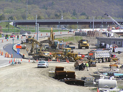 empirestatefuture posted a photo:	Photo: NYSDOTAs US Routes 15 and 17 are being upgraded to Interstates 86 and 99, all interchanges have to be brought up to interstate standards. This interchange of I-86 and I-99 at the Village of Painted Post dwarfs the village.